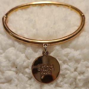 Kate Spade metal bracelet with charm